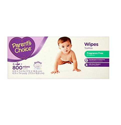 Parent's Choice 800 sheets Quilted soft & Fragrance Free Baby Wipes by Parent's Choice