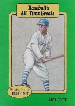 Mel Ott 1987 Baseball All Time Greats Baseball Card At