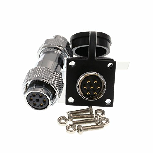 HangTon HF16 7 Pin Metal Aviation Waterproof Industrial Power LED 6mm Cable Connector