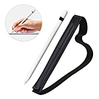 Coolrunner Black Pencil Holder Leather Sleeve for 9.7 inch iPad Pro Apple Pencil