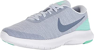 Nike Women's Flex Experience RN 7 Running Shoes, Football Grey/Ashen Slate-Green Glow, 10.5