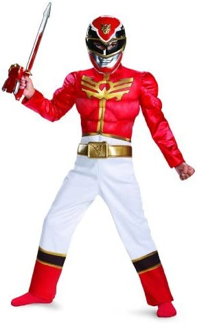 Muscle Disfraz Power Ranger Megaforce Ranger Rojo del muchacho del ...