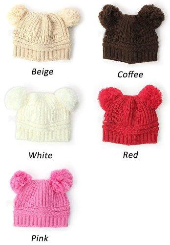 d67f8ab6 Amazon.com: Winter warm earmuffs Baby Love Dual Ball Girls/Boys Wool ...