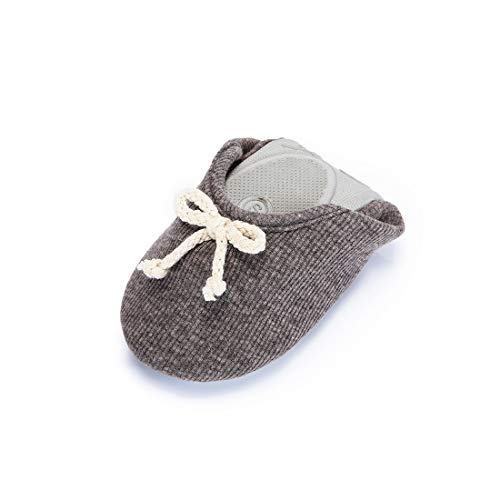 Women's Maternity Gray Slipper Knitted House Comfortable Shoes Dark Elegant Cashmere rCpqwr4