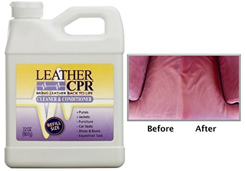 Leather CPR 32oz Bottle - Irritant-Free Leather Cleaner & Conditioner for Your Home – Works Wonders on Furniture, Jackets, Shoes, Auto & More (Furniture Leather Cleaning)