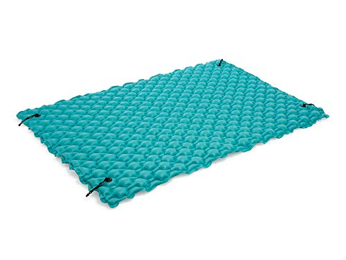 Intex 1 Inflatable Giant Floating Raft Mat for 3 People. for Swimming Pools and Lakes, Turquoise, 290 x 213 cm