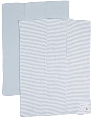 Baby Boys' 2 Pack Striped Burp Cloths (Baby) - Sky