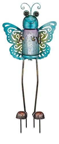 Regal Art &Gift Solar Garden Bug Butterfly Garden Stake