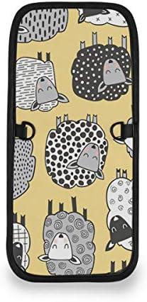 トラベルウォレット ミニ ネックポーチトラベルポーチ ポータブル ひつじ 羊 小さな財布 斜めのパッケージ 首ひも調節可能 ネックポーチ スキミング防止 男女兼用 トラベルポーチ カードケース