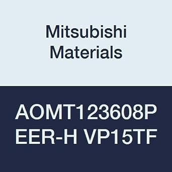0.031 Corner Radius Class M Round Honing Parallelogram 85/° Grade VP15TF Pack of 10 0.142 Thick Mitsubishi Materials AOMT123608PEER-H VP15TF Coated Carbide Milling Insert