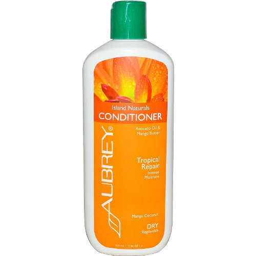 Aubrey Organics Island Naturals Conditioner * RICH MANGO & ORGANIC SHEA BUTTER, AVOCADO OIL & COCONUT MILK * TROPICAL REPAIR FOR DRY HAIR - NSF Certified Organic - 11oz Aubrey Organics Hair Conditioner