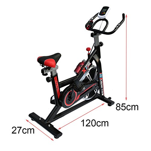 Homgrace Cycling Spinning Mini Exercise Bike Equipment Bicycle Indoor Bike Trainer Exercise Bicycle Indoor Bike Cycling Health Workout (Black+Red)
