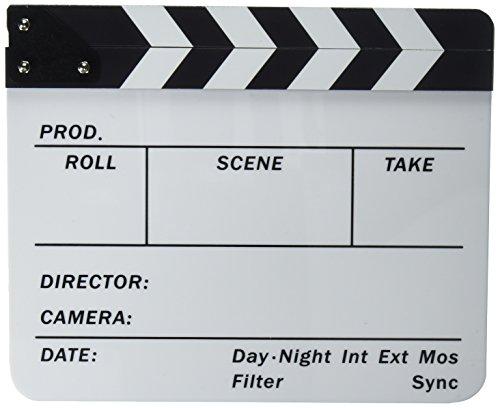Neewer® Plástico Acrílico 10x 12in/25x 30cm borrado en seco del Director Clapboard Cut Acción Escena de la...