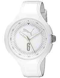PUMA Women's PU911201009 Wave Analog Display Quartz White Watch