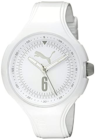PUMA Women's PU911201009 Wave Analog Display Quartz White Watch (Sport Watches Womens White)