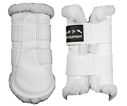 Dressage blk S Fleece xlmiscWeiß Boots Hkm White Lined brushing rxhCtsQd