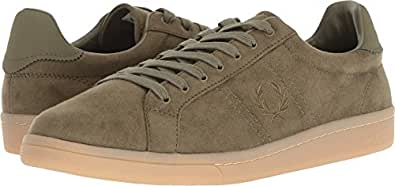 Fred Perry Men's B721 Microfibre Burnt Olive 7 D UK
