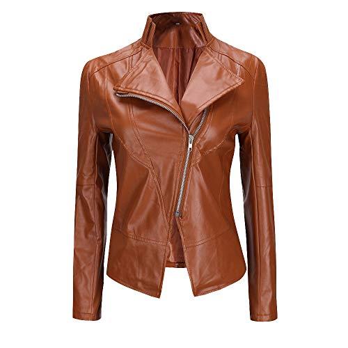 Denver Leather Chair - Winter Warm Women Short Coat Leather Jacket Parka Zipper Tops Overcoat Outwear