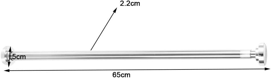 perfk Tringle /à Rideaux Extensible Sans Per/çage R/églable Barre T/él/éscopique en M/étal 65-100cm