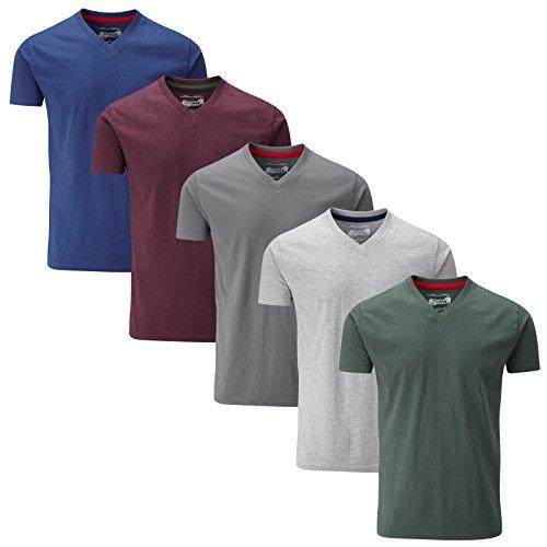A Confezione V T shirt Wilson Mixed Melange Da 5 Semplice Charles Scollo 4fwROqx