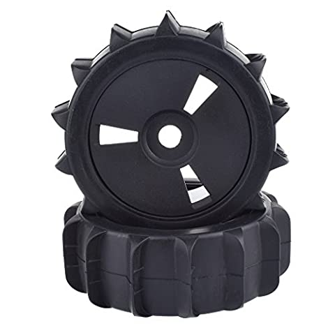 1/8 Scale RC Off Road Baja Buggy Snow Sand Paddle Tires Tyre and Wheels for HSP HPI(Black,2pcs) - 1/8 Buggy