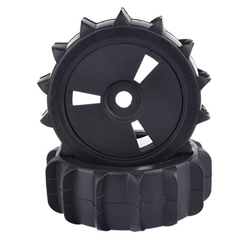 1/8 Scale RC Off Road Baja Buggy Snow Sand Paddle Tires Tyre and Wheels for HSP HPI(Black,2pcs) (1/8 Buggy)