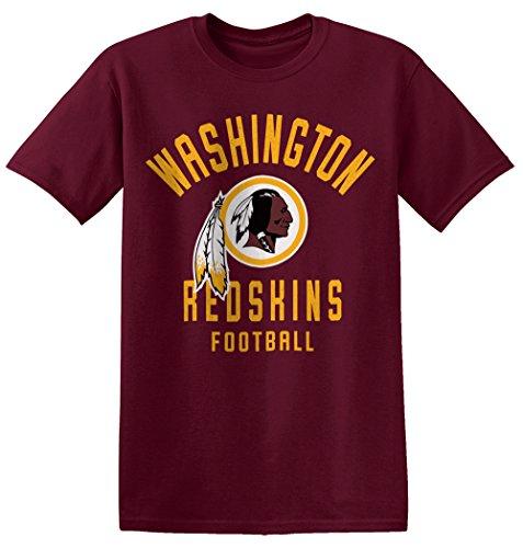 Zubaz NFL Washington Redskins Men's Classic Logo Crew Tee, X-Large, Maroon