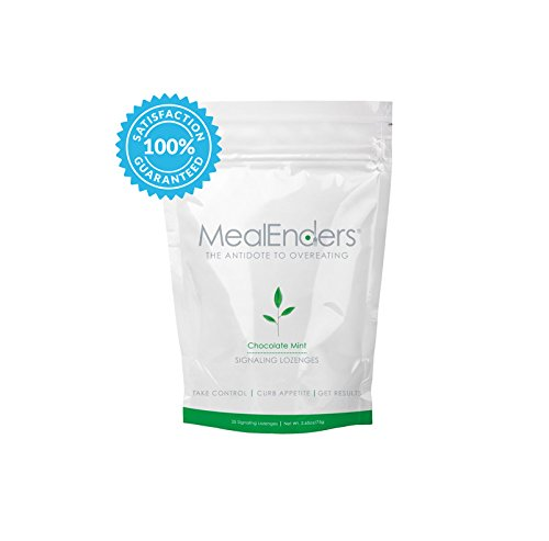 MealEnders Signaling Lozenges-Conquer Cravings, Curb Snacking, Beat Overeating, and Master Portion Control, Helps You Stick to Any Diet Weight Loss Program, 25-count Pouch (Chocolate Mint)