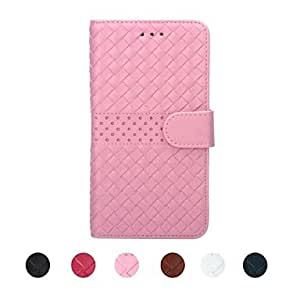 SHOUJIKE Senior Weave PU Leather Full Body Case with Card Slot for iPhone 6(Assorted colors) , Rose