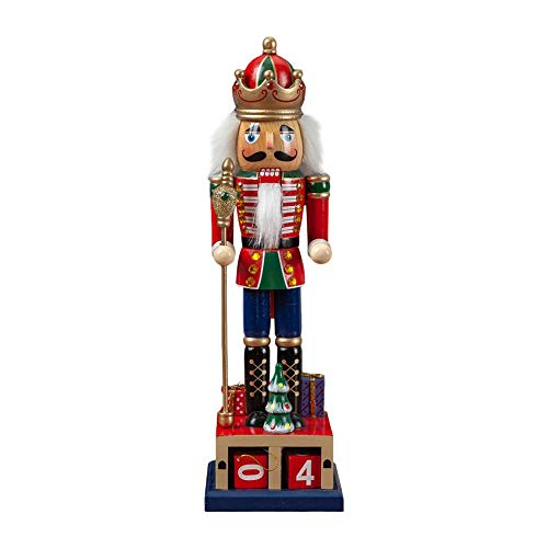 Traditional Wooden Pull Puppet Toy Christmas Nutcracker Soldier Decoration Blue
