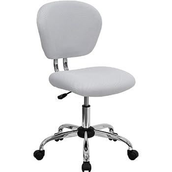 chrome furniture. flash furniture midback white mesh swivel task chair with chrome base