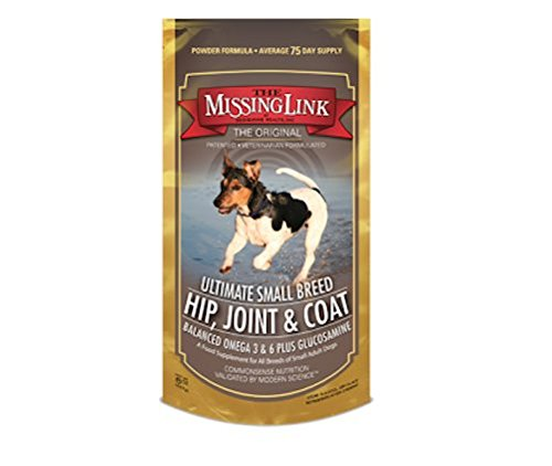 The Missing Link Ultimate Small Breed Hip Joint & Coat Supplement Dog Canine 8oz