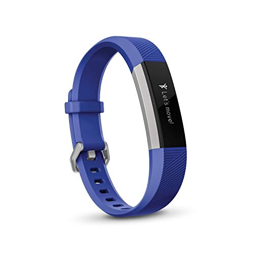 Fitbit Ace, Activity Tracker for Kids 8+, Electric Blue / Stainless Steel One Size (Go Green Bracelet)