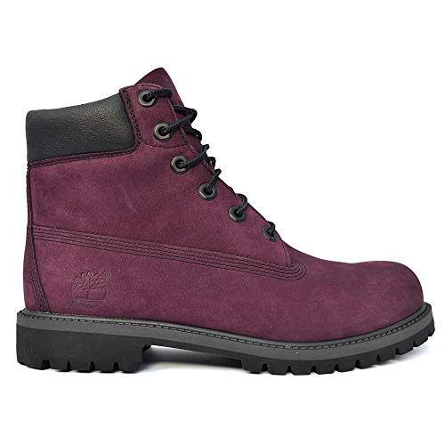 Timberland - 6 in Premium WP Boot - A1O82 - Color: Burgundy - Size: 6.5 (Juniors Timberland Boots Womens)