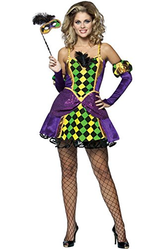 [Mememall Fashion Mardi Gras Queen Adult Halloween Costume] (Dog Costumes For Mardi Gras)