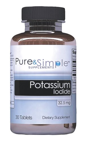 L'iodure de potassium pur et simple (32,5 mg)