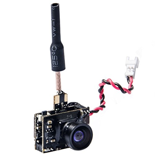 Wolfwhoop WT01-D Micro AIO 600TVL Cmos Camera 5.8GHz 40CH 25mW FPV Transmitter Combo with Dipole Brass Antenna for FPV Quadcopter Drone