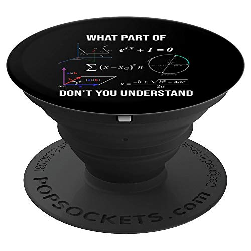 Funny Civil Engineer Mathematician Math Gift What Part Of - PopSockets Grip and Stand for Phones and Tablets