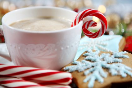 Christmas Gift Basket for Women: Ornaments, Tea, Candy Cane, Mug, Hot Chocolate, Hand Cream, Potpourri Set for Her by Charmed Crates (Image #3)