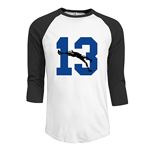 BMW47' Men's OBJ 13# NO.13 Football 3/4 Sleeve Baseball Jersey Shirts - XX-Large (Temple Football Jersey compare prices)