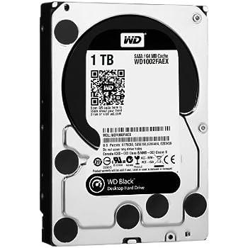 """WD  Caviar Black 1 TB SATA III 7200 RPM 64 MB Cache Internal Desktop 3.5"""" Hard Drive (WD1002FAEX ) (Old Model)"""