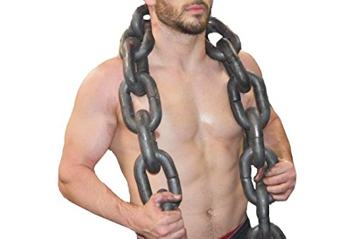 120 Pound Weightlifting Chain Set, Includes Carabiners and Leader Chains
