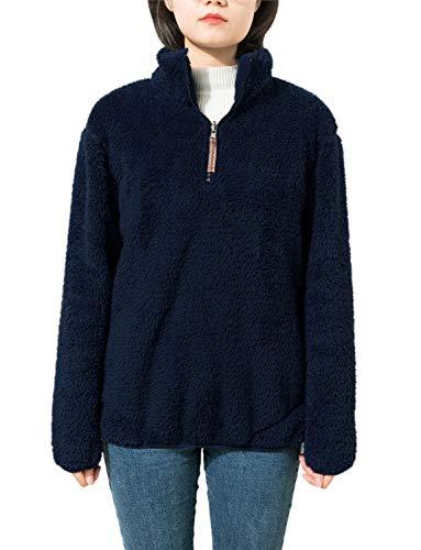 Fleece Sherpa Pullover Womens 1/4 Zip Fleece