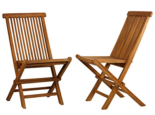 (Bare Decor BARE-DC1021 Vega Outdoor Folding Chair, Set of 2 Teak)