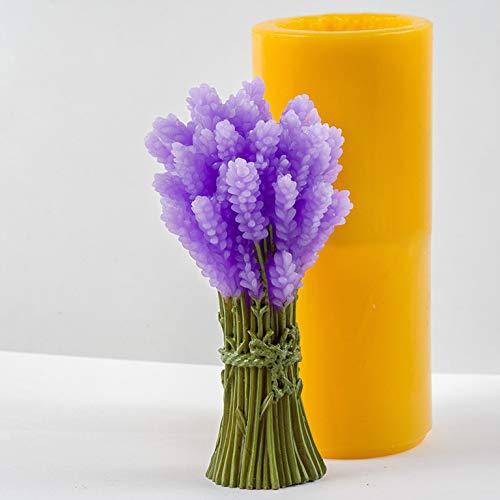 Soap Mold Bouquet of Lavender 3D
