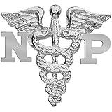 NursingPin - Nurse Practitioner NP Graduation Nursing Pin in Sterling Silver