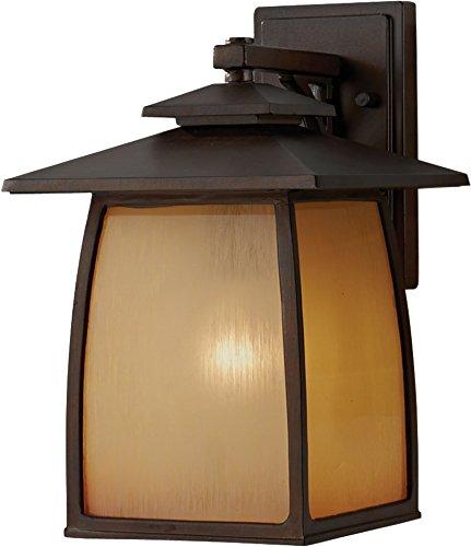 (Feiss OL8502SBR Wright House Outdoor Patio Lighting Wall Lantern, brown, 1-Light (9