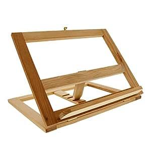 U.S. Art Supply Large Wooden Bookrack Easel and Cookbook Holder