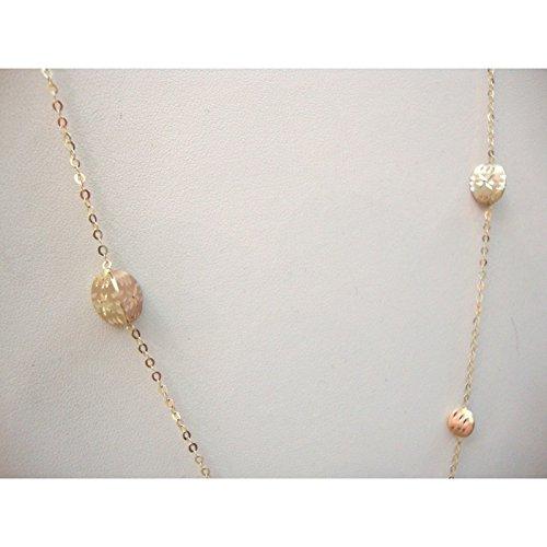 Damiata bijoux-Collier Ras du cou Femme-Or jaune 18 carats avec Charms