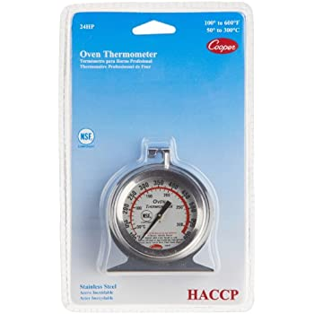 Cooper-Atkins 24HP-01-1 Stainless Steel Bi-Metal Oven Thermometer, 100 to 600 degrees F Temperature Range